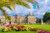 Fototapeta Fototapety Paryż - Palace in the Luxembourg Gardens, Paris, France