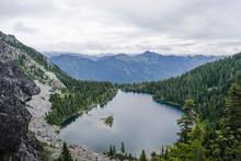 High Angle View Of Theseus Lake