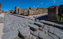 Pedestrian Crossing In Ancient Pompeii