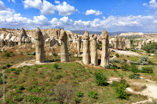 Tablou Canvas Large phallic rock formations in the Valley of Love, Cappadocia, Turkey