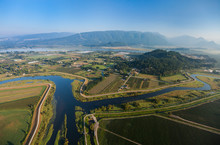 Aerial View Of Confluence Of Main And North Stems Of Alouette River