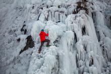 Person Climbing On Ice At Troj...