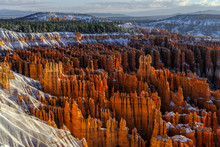 Scenery Of Bryce Canyon National Park In Winter, Utah, USA