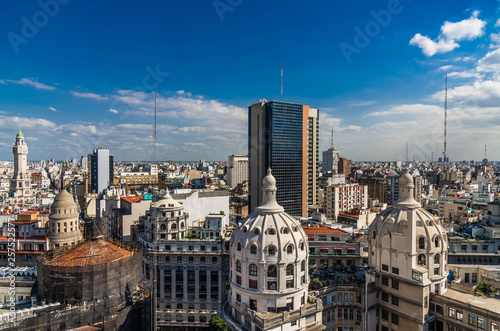Photo sur Toile Buenos Aires Aerial view of Buenos Aires downtown, Argentina, on a sunny day