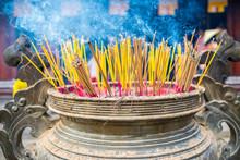 Burning Incense Sticks At Thie...