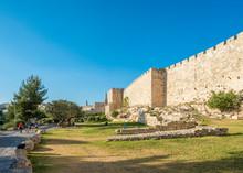 Old City Walls Along Bonei Yer...