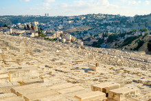 Jewish Cemetery On The Mount Of Olives, Jerusalem, Israel