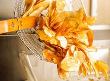 Potato Chips In Basket