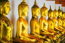 Golden Buddha Statues, Wat Pho...