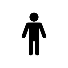 Man Lavatory Icon. Men Rest Room Sign. Toilet For Gents Symbol Vector. Male's WC Illustration Logo Template.