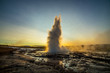 canvas print picture A landscape with Geysir, one of the biggest attraction of Iceland
