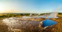 A Landscape With Geysir, One O...
