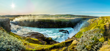 A View Of Gullfoss Waterfall In Iceland