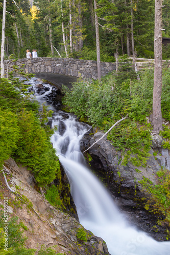 Bridge waterfall