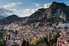Townscape Of Taormina, Sicily, Italy