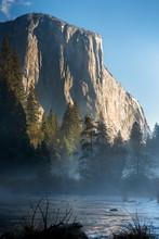 View Of Yosemite Valley At Sunrise. CA, USA.