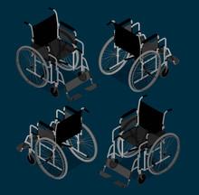 Isometric Wheelchair Vector Il...