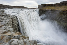 Dettifoss Waterfall In North Iceland.