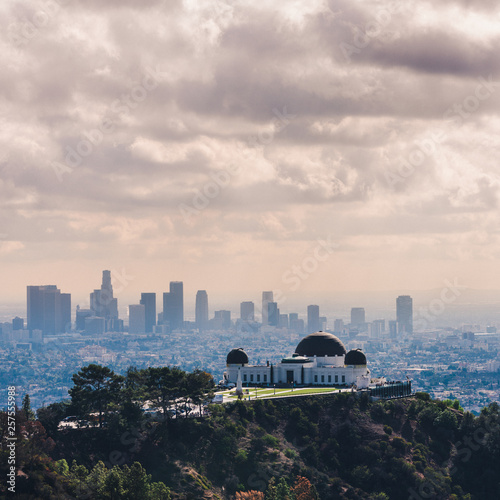 Aluminium Prints Los Angeles Griffith Observatory with Downtown Los Angeles in view