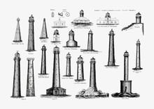 Vintage Lighthouse Set