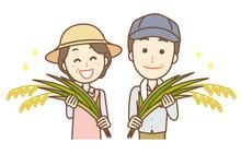 米農家 上半身 男女...