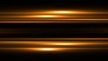 Golden Lines With Light Effects  On Black Transparent Background