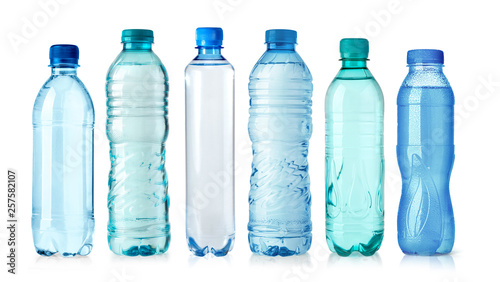 Valokuva  plastic water bottle isolated on white