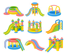 Colorful Inflatable Slides Con...