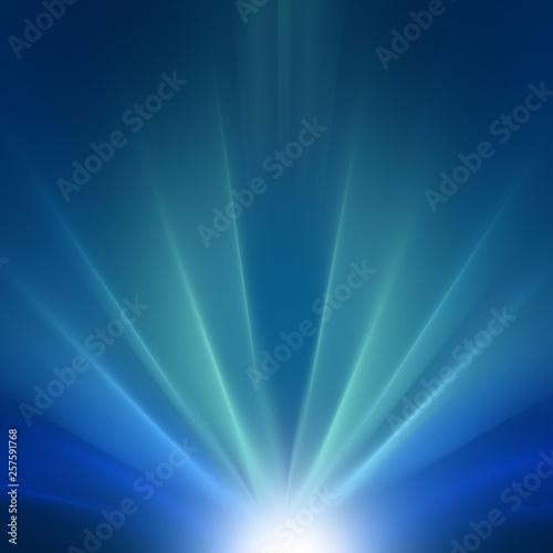 Fototapety, obrazy: Starburst Blue Light Beam Abstract Background