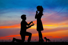 Illustration Of Man Propose To...