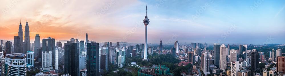 Fototapety, obrazy: Kuala Lumpur, Malaysia – MARCH 12, 2019: Panoramic view of the Kuala Lumpur capital 68Mp resolution in Kuala Lumpur, Malaysia