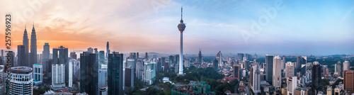 Poster Kuala Lumpur Kuala Lumpur, Malaysia – MARCH 12, 2019: Panoramic view of the Kuala Lumpur capital 68Mp resolution in Kuala Lumpur, Malaysia
