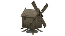 Wooden Windmill - Separated On...