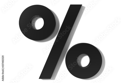 Fotomural  percent sign percentage icon interest rate symbol sale discount icon black 3d si