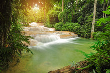 Kao Fu Waterfall At Lampang Th...