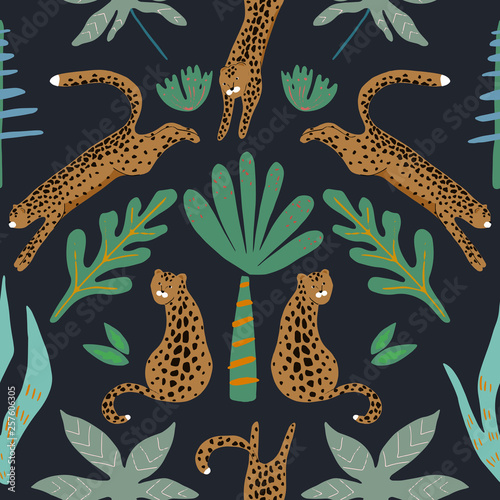 Fotografie, Tablou  Jungle seamless pattern