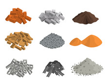 Realistic 3d Detailed Building Materials Set. Vector