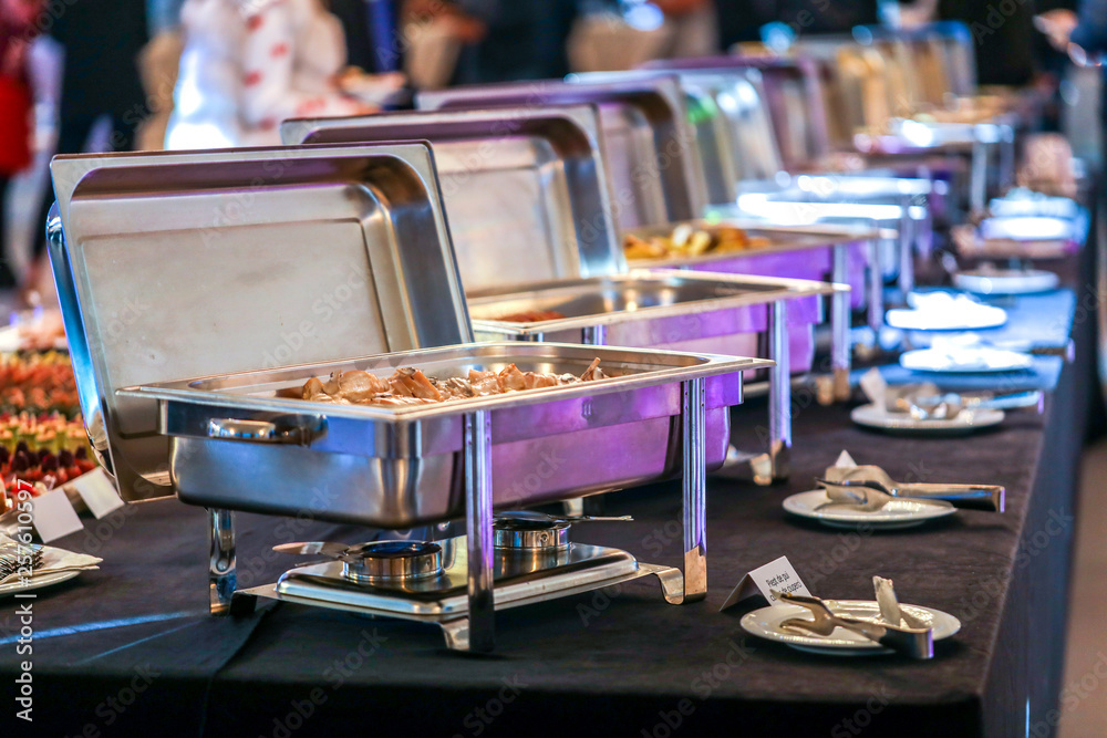 Fototapeta Chafing Dish with food