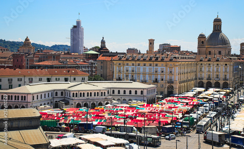 "Fotografía ""Porta Palazzo"" is the oldest farmers market in Turin, Italy, the biggest open air market in Europe"