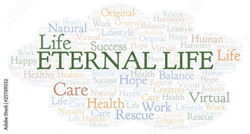 Fotografie, Tablou Eternal Life word cloud.