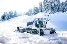 Snowcat At The Ski Resort