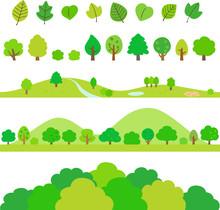 木や葉のデコレーショ...