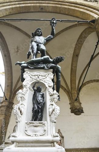 Rape of Sabine, Loggia dei Lanzi, Florence, Italy Canvas Print