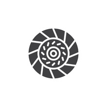 Car Clutch Plate Vector Icon. ...