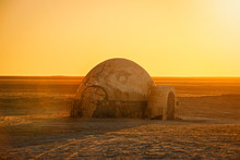 .futuristic Dome Building In The Sahara Desert Place Of Shooting The Fourth Episode Of Star Wars