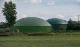 Fototapeta Tęcza - Biogasanlage für Energieerzeugung