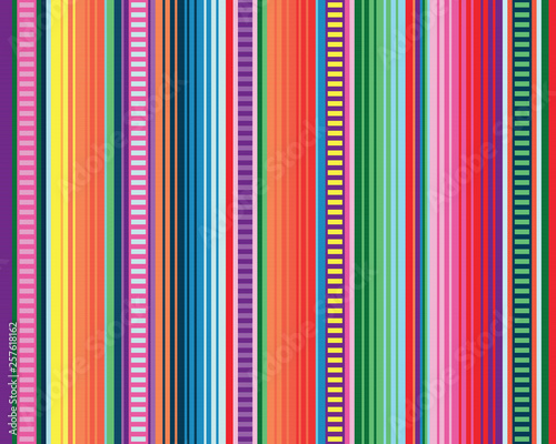 Leinwand Poster seamless mexican rug pattern. serape stripes vector