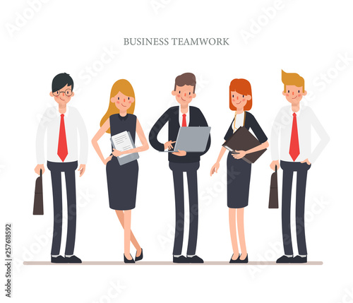 Business people teamwork character Canvas-taulu