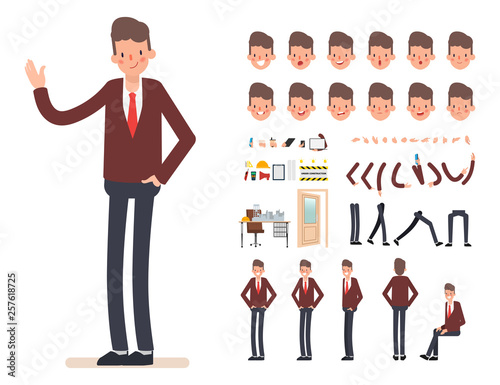 Valokuva  Businessman character creation for animation