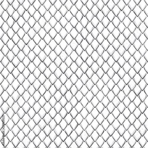 Snake Skin Black and White Seamless Pattern Wall mural